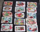 Lot of 15 Victorian 1800's Calling Cards