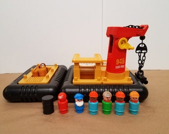 Vintage Fisher Price Off Shore Cargo Base 945