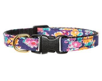 "Cat Collar - ""The Caturday Vibes"" - Liberty of London Floral Print"