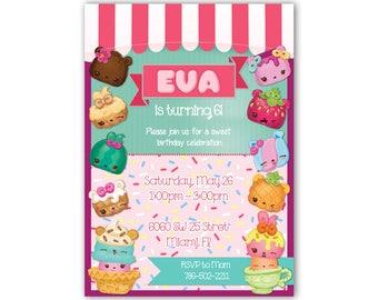 Num Noms Birthday Party Digital Invitation