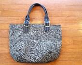 Waverly Pebblecat Fabric Handbag Black Gold Classy