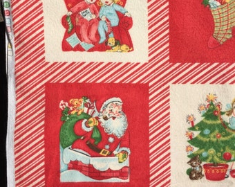 """Chloe's Closet Kiddie Christmas FLANNEL fabric By the 12"""" Panel"""