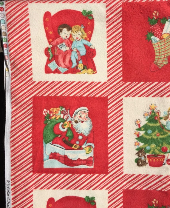Chloe's Closet Kiddie Christmas FLANNEL fabric By the Panel