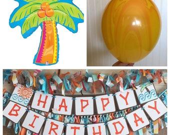 """Moana Birthday Decorations - 37"""" Palm Tree Balloon - Moana Birthday - Palm Tree  - Foil Balloon - Tropical Party Balloon"""