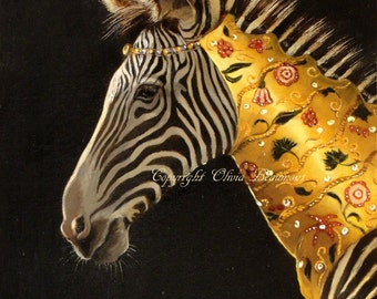 "Zebra Art - ""Essential Finery"" small print"
