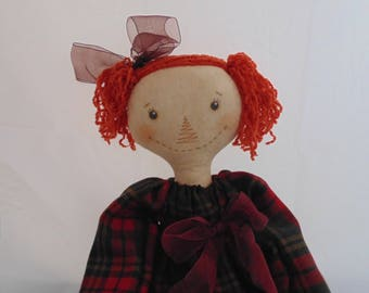 Cute primitive raggedy Doll