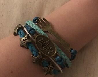 Little Mermaid Inspired Infinity Bracelet