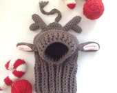 Santa's Little Helper Reindeer Dog Hat
