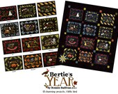 Set of 12 Bertie's Year patterns