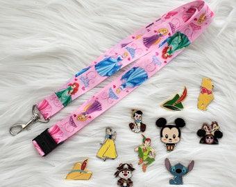 Disney Trading Pins with Disney Princesses Lanyard Starter Lot  5, 10, 15, 20, or 25 Random Pins  Free Shipping