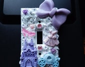 Princess Switch Plate Cover - girly princess themed light switch plate cover, great for nursery
