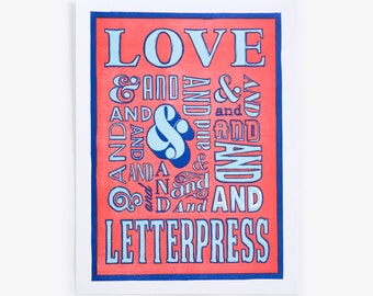 Love and Letterpress Art Print