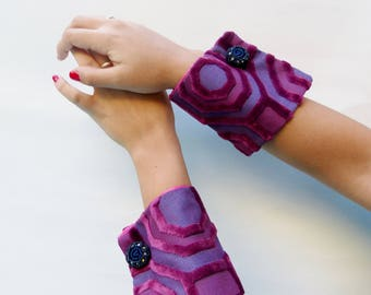 fabric jewelry, fashion cuffs, wrist corsage bracelet, customizable wrist cuffs