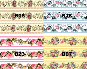 Dolls House Wallpaper Border 77 ins long 1/12th 1/24th choice of 4 designs Floral