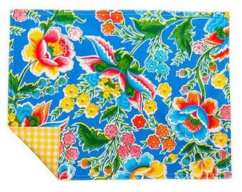 Fantasia Blue Reversible Oilcloth Placemats