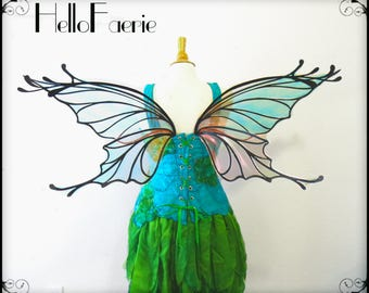 Extra Large Steel Midsummers Night Fairy Wings Butterfly Wings