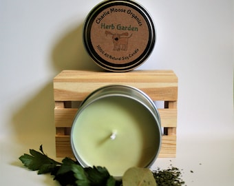 Herb Garden Soy Candle, 8 oz. Soy Candle, Basil and Herb Scented Candle, Soy Wax Candle, Scented Candle, Garden Candle, Fresh Scent Candle