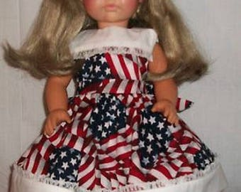 Patriotic and White Dress for 18inch Doll