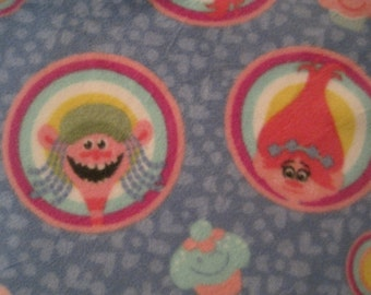 Trolls with Pink 2 Layer Fleece Coverlet