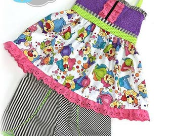 Ready to Ship Size 5/6 Watercolor Puppies Short Set
