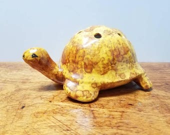 Ceramic Turtle Pencil Holder or Flower Frog