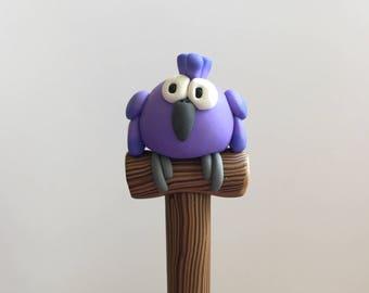 Purple Parrot Pen