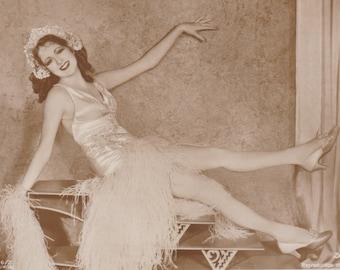 Billie Dove, Silent Film Star, Just Kickin' Back, circa 1930 by Ross Verlag, Ballerini and Fratini