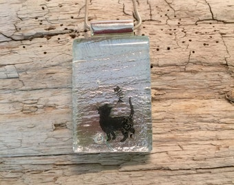 Dichroic glass, dichroic glass jewelry, fused glass, Dichroic Glass Pendant, Fused Glass Jewelry, Fused Dichroic Necklace, glass jewelry