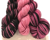Brilliant Orchids Polar Opposites with Contrast... Canon Hand Dyes Charles Self Striping Superwash Sock Yarn