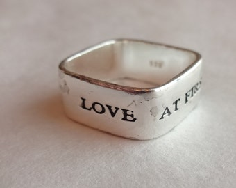Sterling Silver Love at First Site Ring by Nine West Size 9