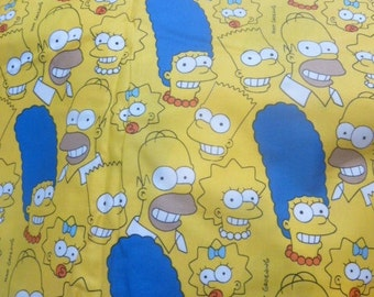 Simpsons Bean Bag Cover, Homer, Bart, Marge, Maggie, Lisa, Simpson, Donut, Doughnut, Blue Hair, D'oh, Yellow,  Etsy Kids, Gifts Under 100