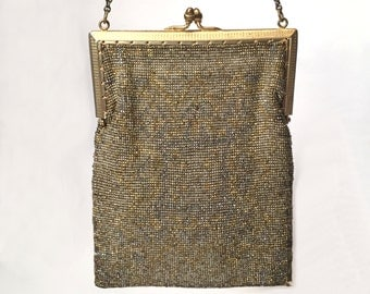 Gold and Silver Beaded Evening Bag 1919