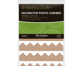Photo Corners * Kraft Paper * Self-Adhesive * Photo Album Corners * 126 Pieces
