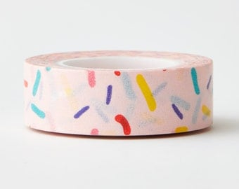 Donuts Sprinkle Washi Tape - icecream washi- frosting donuts-craft supplies-card making- scrapbooking- planner washi-Love My Tapes-LMT1851
