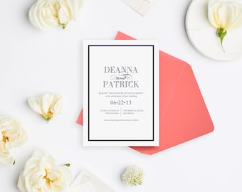 Wedding Invitation Sample - The Deanna Suite