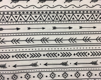 Black and White Tribal Fitted Crib Sheet | Changing Pad Cover | Mini Crib Sheet - for the Gender Neutral Explorer Nursery by Mommy Moxie