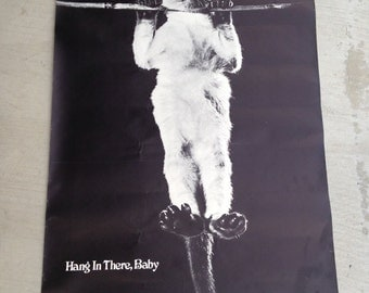 Original First Hang In There Baby Cat Poster 1972 Victor Baldwin