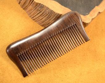 Medium Teeth Ebony Wood Hair Comb