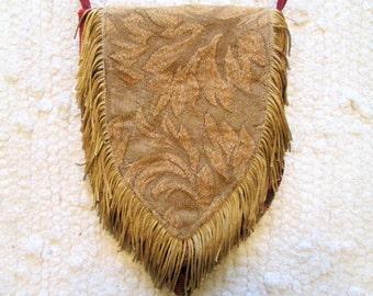 Small Boho Gypsy Tapestry Fringe Cross Body Bag