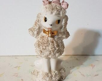 1950's Spaghetti Poodle Kitsch Figurine