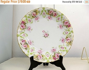 Cottage Chic Floral Serving Plate - Limoges France - Home Decor