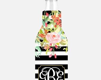 Personalized Bottle Cooler-Insulated Bottle Hugger-Bottle Cooler-Monogram-Bottle Cozie-Bridesmaids Gifts-Wedding