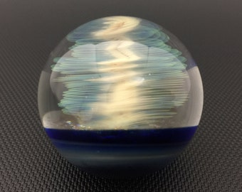 Silver Fumed Cyclone Dichro Galaxy Marble with Color Backing