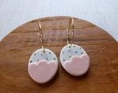 Small Gold Dot Egg Earrin...