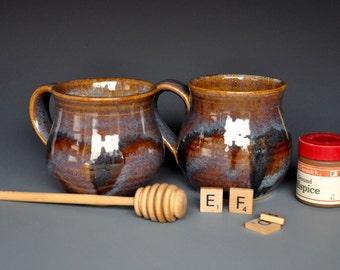 25% Off Seconds Pair of Pottery Mugs Stoneware Ceramic Mug Coffee Mug Handmade Cup