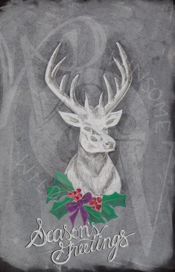 Christmas Stag Print