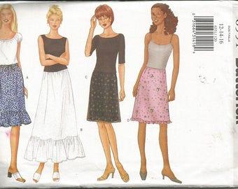 Butterick 6551 Misses/Women's Skirt Pattern SZ 12-16
