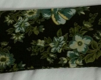 Roses Checkbook Cover Coupon Holder Clutch Purse Billfold Ready-Made
