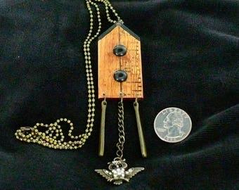 OOAK Birdhouse Necklace, Handmade, from Bluebird Creations, Item #2017