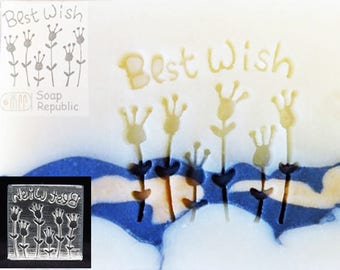 SoapRepublic Best Wishes Acrylic Soap Stamp /Cookie stamp